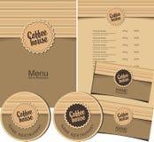 Coffee house menu Stock Photos