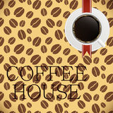 Coffee house menu template vector illustration Stock Photography