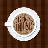 Coffee house Menu Vintage card Stock Image