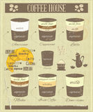 Coffee House Old Infographics Royalty Free Stock Photography
