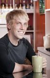 Coffee House Portrait of Young Man royalty free stock photography