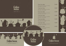 Coffee house set Royalty Free Stock Photos