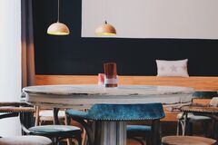 Coffee house table Royalty Free Stock Image