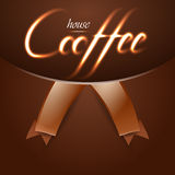 Coffee house trendy background with fire words.  Stock Image