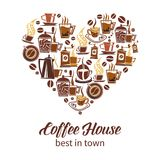 Coffee house vector design Stock Photography