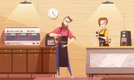 Coffee House Vector Illustration Stock Images