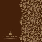 Coffee house vertical brown background Stock Photography