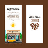 Coffee house vertical flyers Stock Image