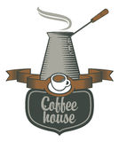 Coffee houses and coffee pots Royalty Free Stock Photo