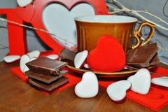 Coffee - I love coffee - coffee beans , coffee and chocolate Stock Photos