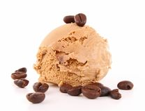 Coffee ice cream Stock Photos