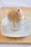 Coffee Ice Cream. Homemade Coffee Ice Cream in a cup Royalty Free Stock Images