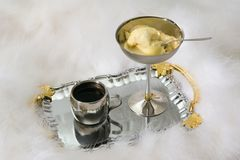 Coffee and ice-cream Stock Photo