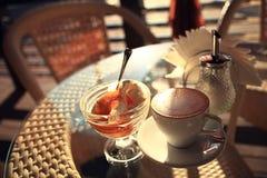 Coffee and ice cream Stock Image