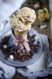 Coffee ice cream Royalty Free Stock Photos