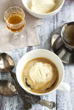 Coffee Ice Cream with cognac. Stock Photography