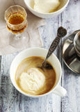 Coffee Ice Cream with cognac. Stock Images