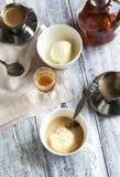 Coffee Ice Cream with cognac. Royalty Free Stock Image