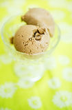 Coffee ice cream Stock Photography