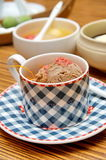 Coffee ice-cream in Japanese restaurant Royalty Free Stock Images