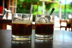 The coffee with ice royalty free stock image