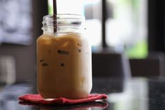 Coffee. Iced coffee at a Thai cafe Royalty Free Stock Image