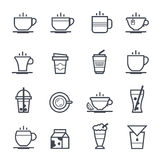 Coffee Icon Bold Stroke Royalty Free Stock Photography