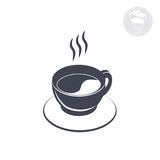 Coffee icon. On the saucer, Vector computer graphics Royalty Free Stock Photography