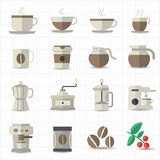 Coffee icon. This image is a vector illustration Royalty Free Stock Photography