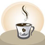 Coffee. Icon over white background vector illustration Stock Photos