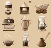 Coffee icon set. Royalty Free Stock Image