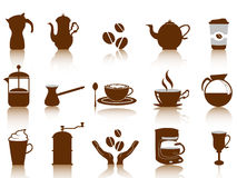 Coffee icon set. Some coffee icon set for design Royalty Free Stock Image