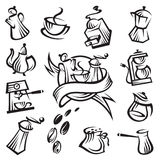 Coffee icon set Royalty Free Stock Photo