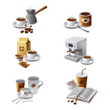 Coffee icon set Royalty Free Stock Photos