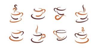 Coffee Icon Set Stock Images