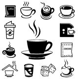 Coffee icon set 02 Royalty Free Stock Photo