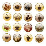 Coffee icon set. Royalty Free Stock Photo