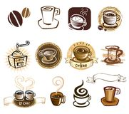 Coffee icon set Royalty Free Stock Image