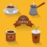 Coffee icon set Stock Photography