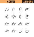 Coffee icon set Stock Photos