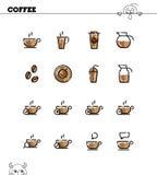 Coffee icon set Royalty Free Stock Photos