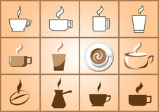 Coffee icon set Royalty Free Stock Photography