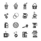 Coffee icon set, vector eps10 Stock Photos