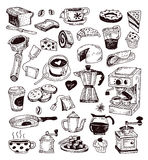 Coffee icon set. Vector illustration. Stock Image