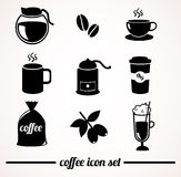 Coffee icon set. Stock Images