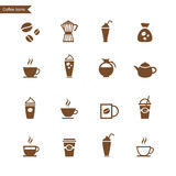 Coffee icon set. Vector Royalty Free Stock Photography