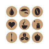 Coffee. Icon set Royalty Free Stock Photos