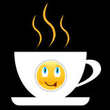 Coffee icon with smile Royalty Free Stock Images