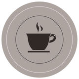 Coffee icon. Vector file of coffee icon Stock Images