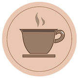 Coffee icon. Vector file of coffee icon Stock Image